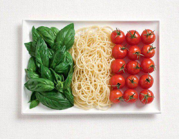 Italija zastava od hrane