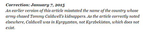 Ney York Times javlja da je greška ispravljena