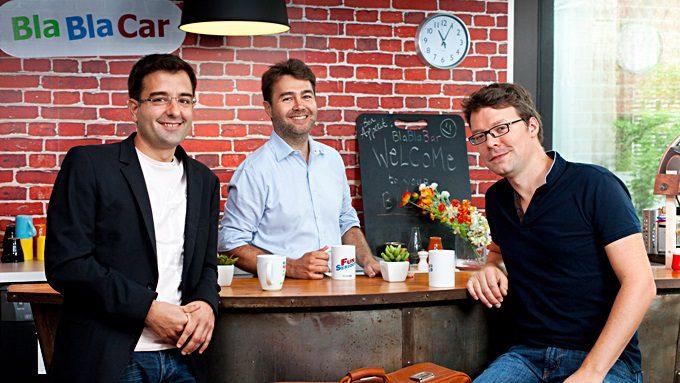 Blabla team (s lijeva): Suosnivači Frederic Mazzella, Nicolas Brusson i Francis Nappez