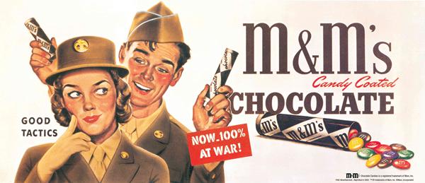 M&M bomboni proizvedeni 1941