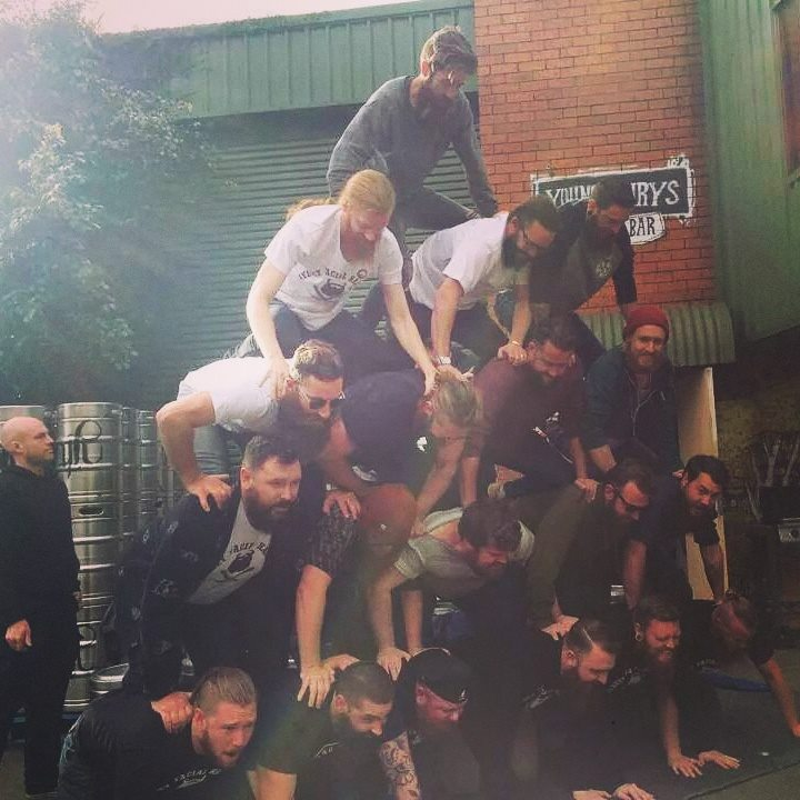 all-bearded human pyramid st petersburg