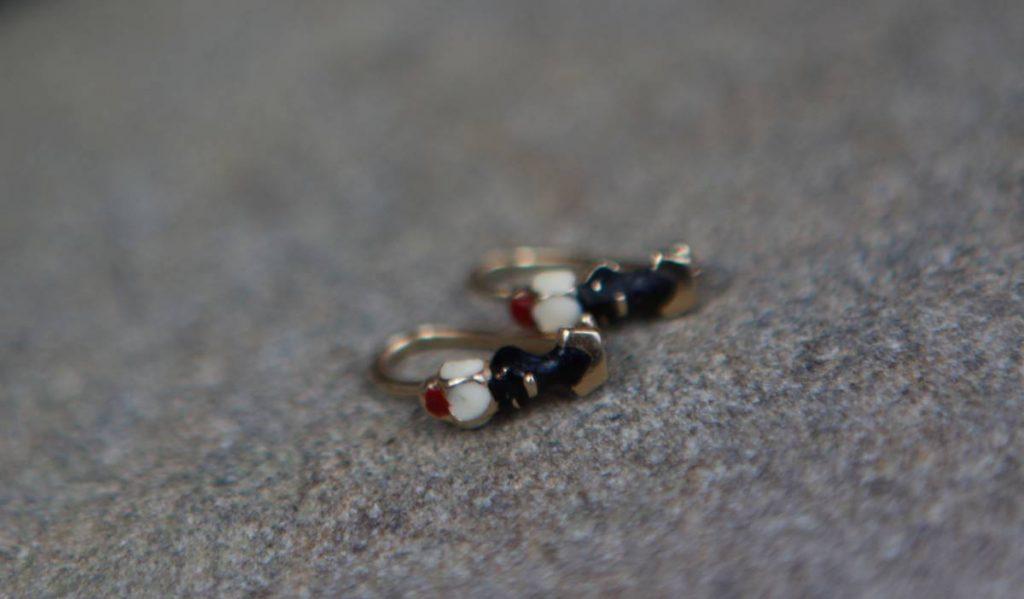 Naušnice Morčići - ručni rad zlatarnice Rodić