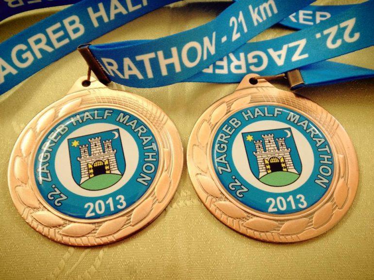 Zagrebački maraton medalje - polumaraton