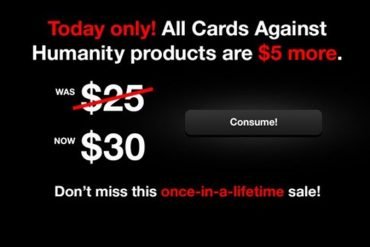 Card Against Humanity offer