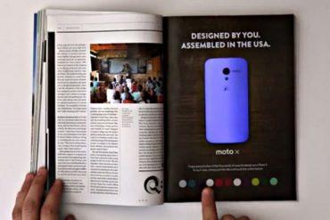 Moto X interaktivni oglas, Wired, interaktivan